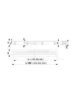 Душевой лоток AlcaPlast Simple APZ9-850M