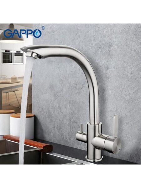 G4399 Смеситель для кухни с фильтром д/питьевой воды GAPPO