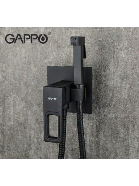 G7217-6 Смеситель для биде, черный GAPPO