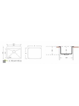 Кухонная мойка ОПТИМА 600.500 Florentina (600х500х220)