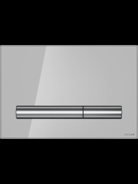 Клавиша смыва PILOT серый глянец Cersanit P-BU-PIL/Grg/Gl