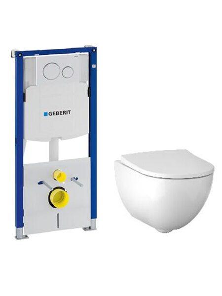 Комплект унитаза с инсталляцией Geberit Acanto №2 (500.301.KJ.A)