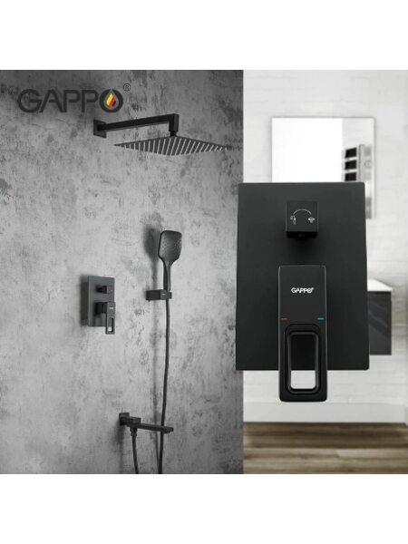 G7117-6 Душевая система, черный GAPPO