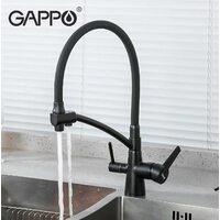 G4398-16 Смеситель для кухни черный GAPPO