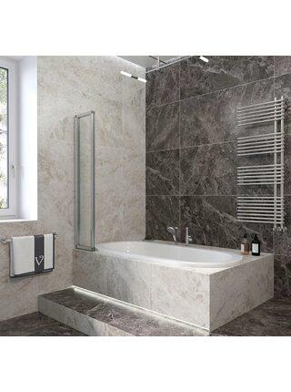 Шторка на ванну 90*150 Veconi (PL73L-90-01-19C4)