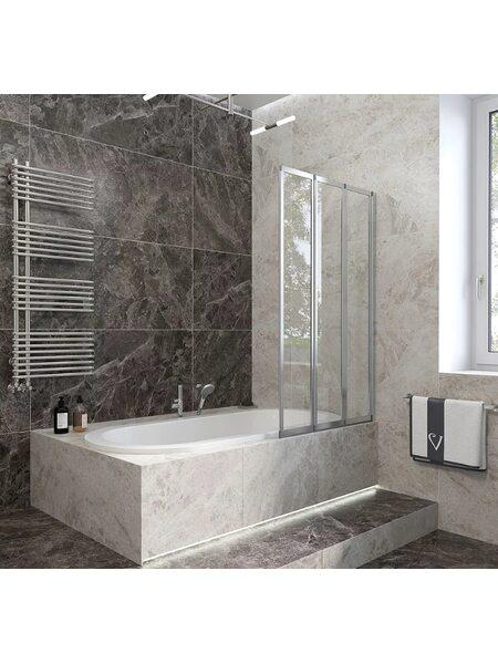 Шторка на ванну 90*150 Veconi (PL73R-90-01-19C4)