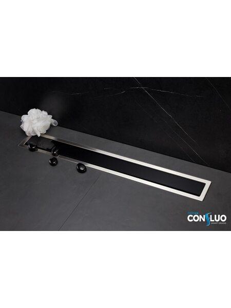 Душевой лоток Pestan Confluo Premium Black Glass Line  650мм (13000293)