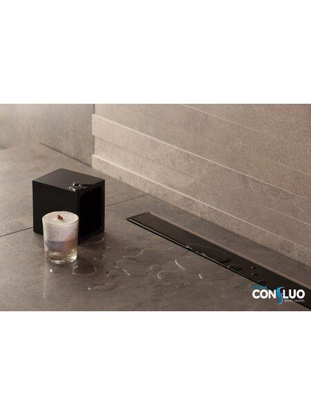 Душевой лоток Pestan Confluo Frameless Line Black Glass 550мм (13701203)