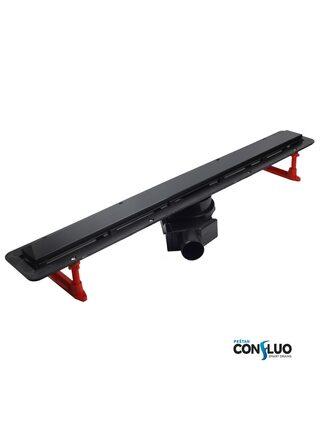 Душевой лоток Pestan Confluo Frameless Line Black Glass 650 мм (13701204)