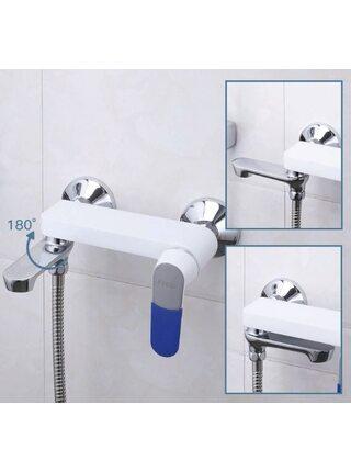 F3234 Смеситель для ванны, белый хром FRAP