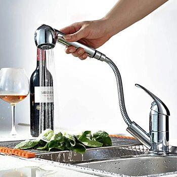 F6003 Смеситель для кухни - выдвижной излив FRAP
