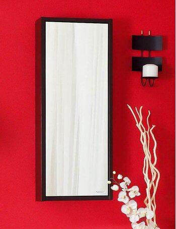 Зеркальный шкаф БАЛИ 40 R венге/белый глянец