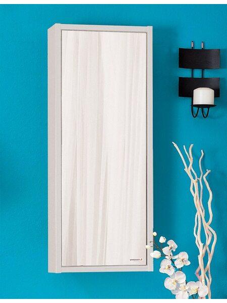 Зеркальный шкаф БАЛИ 40 R светлая/белый глянец
