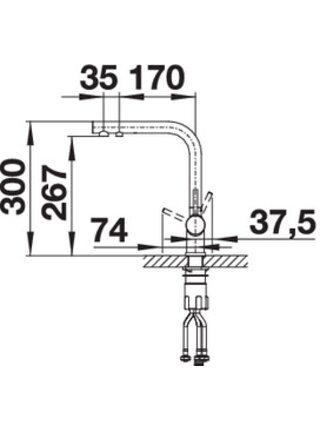 525137 Смеситель BLANCO FONTAS II хром