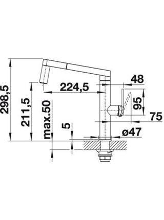 521547 Смеситель BLANCO PANERA-S (сталь нержавеющая)