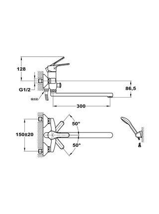 155-1701-10 Смеситель для ванны и умывальника Mofem 605 PRO