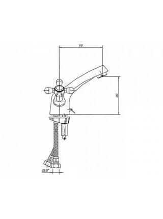 140-0178-18 Смеситель для раковины Mofem 100 E (N) CER