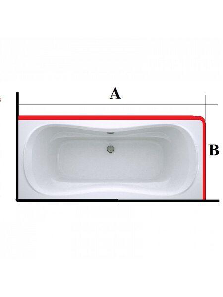 Карниз из нержавеющей стали для ванной и поддона Г-образный