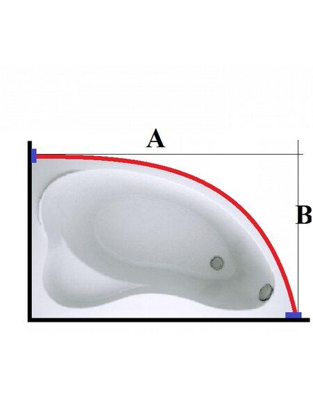 Карниз из нержавеющей стали для ванной Дуга