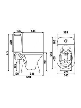 Унитаз-компакт JIKA ERA горизонтальный выпуск без сидения 245320002429