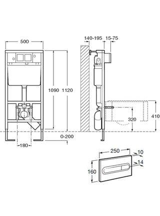 Система инсталляции для унитазов Roca DUPLO WC 890090020