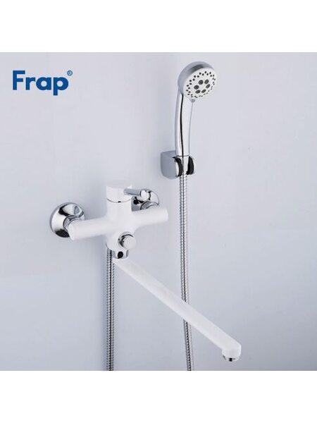 F2244-8 Смеситель для ванны, белый/хром