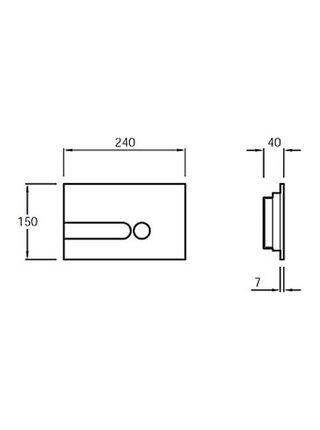 Панель для двойного смыва (белая) Jacob Delafon E4326-00
