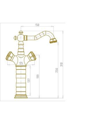 Смеситель на раковину Bronze De Luxe Royal 10219/1