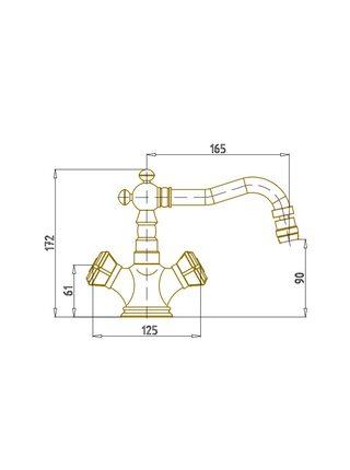Смеситель на биде Bronze de Luxe Royal 10217/1