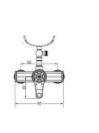 Гигиенический душ со смесителем Bronze de Luxe Windsor 10135