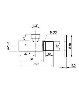 Вентиль для подвода воды Bronze de Luxe 21985