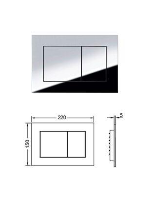 Инсталляция с панелью смыва TECEnow 9400012