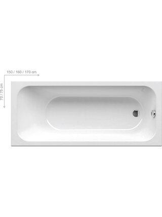 Ванна прямоугольная CHROME 170*75 Ravak C741000000