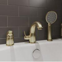 Смеситель на борт ванны на 3 отверстия Oldie, бронза IDDIS OLDBR30i07
