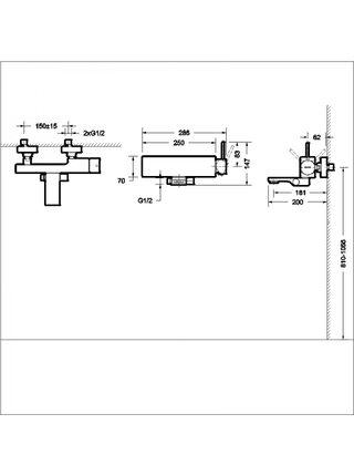Смеситель для ванны и душа ARC (Black) Bravat F66061K-01A-ENG