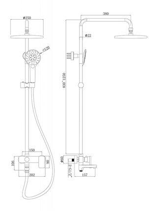 RIFFLE Душевая система Bravat F6336370CP-A-RUS