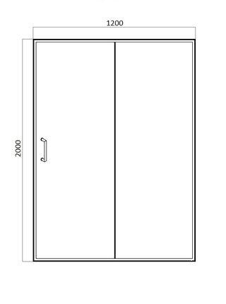 DROP Душевая дверь в нишу раздвижная 1200x2000 Bravat BD120.4100A