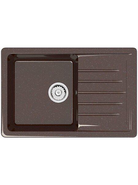 Мойка прямоугольная (495х755х200) Энди Z16Q16 (шоколад)