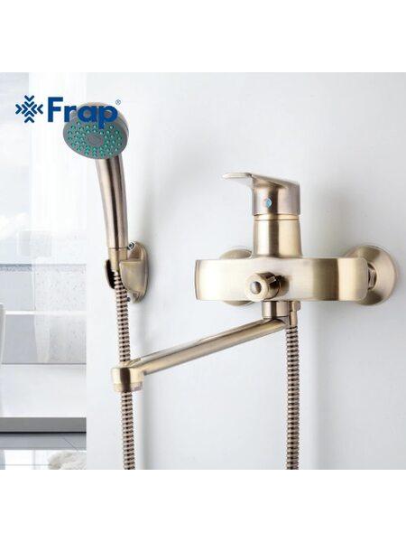 F2230-4 Смеситель для ванны, бронза FRAP