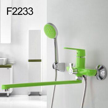 F2233 Смеситель для ванны, зеленый/хром FRAP