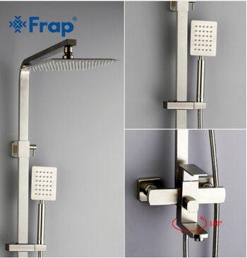 F2421 Душевая система со смесителем с изливом FRAP