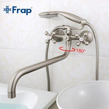 F2619-5 Смеситель для ванны, сатин FRAP