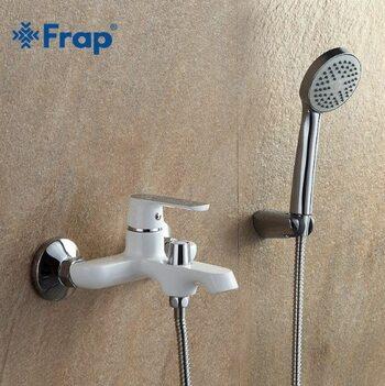 F3231 Смеситель для ванны, белый/хром FRAP