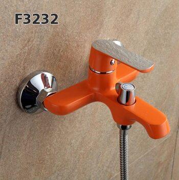F3232 Смеситель для ванны, оранжевый/хром FRAP