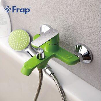 F3233 Смеситель для ванны, зеленый/хром FRAP