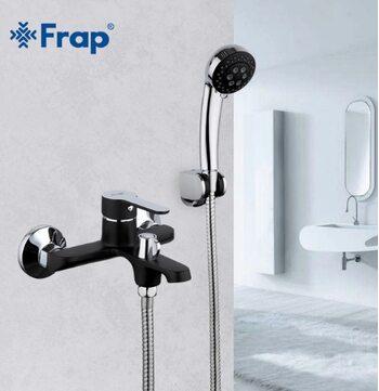 F3242 Смеситель для ванны, черный/хром FRAP