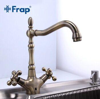 F4019-4 Смеситель для кухни, бронза FRAP