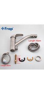 F4321-5 Смеситель для кухни, сатин с фильтром д/питьевой воды FRAP