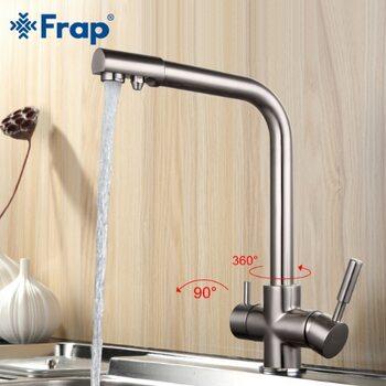 F4352-5 смеситель для кухни с подключением фильтра питьевой воды, сатин FRAP