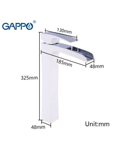 G1007-31 Смеситель для раковины, высокий GAPPO